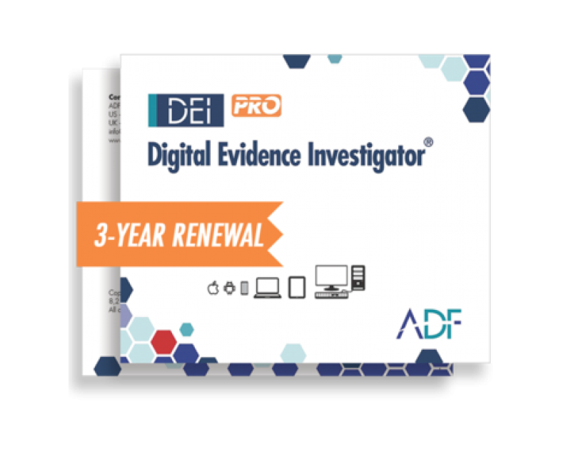 ADF Digital Evidence Investigator® PRO Kit with 3 Year Renewal