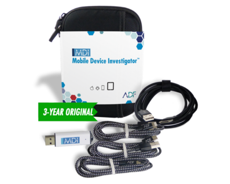 ADF Mobile Device Investigator™ Forensic Kit with 3 Year Subscription Maintenance and Support