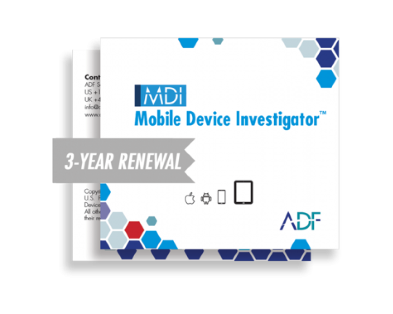 ADF Mobile Device Investigator™ 3 Year Renewal