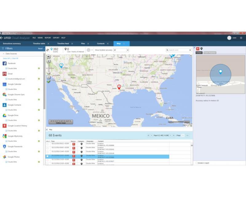 Cellebrite UFED Cloud Analyzer Software